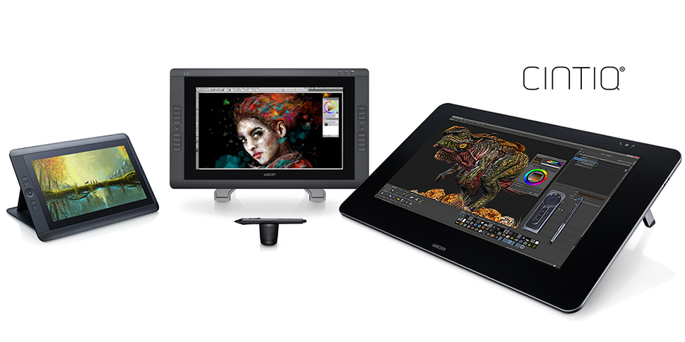 Wacom Cintiq family of professional digital pen displays