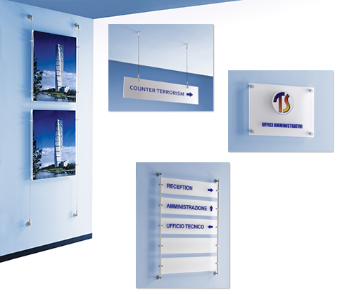 Wall Mounted Display Fixtures : Wall Mounted signs and Floor Standing