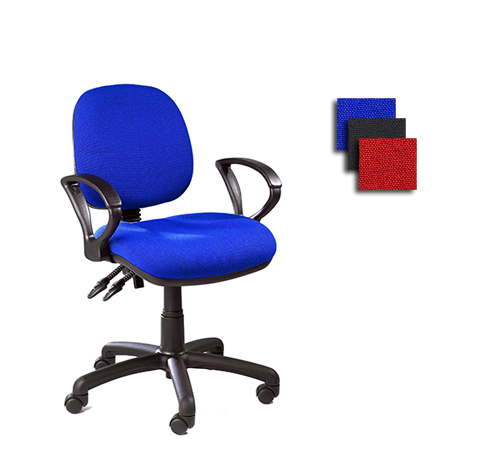 Upholstered drafting and office chairs