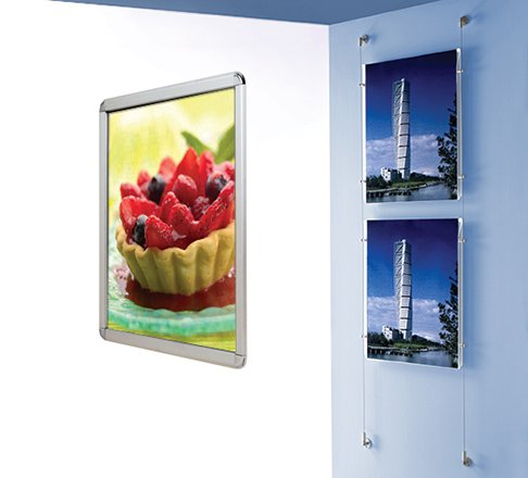Wall mounted displays
