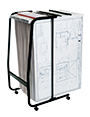 Mobile trolley for hanging drawings in Planhorse plan clamps