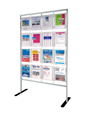 double sided A4 vertical standing document display 4 x 4 optional crowner signs