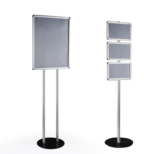 Totem display frame stands free standing display boards for Totem stand