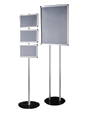 Free standing snap frame totem stand