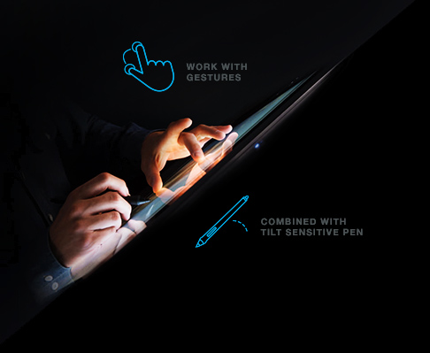 Pen and multi-touch gesture control