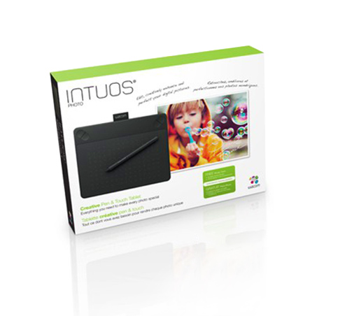 Intuos Photo image editing package graphics tablet for MAC or PC