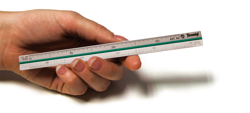 Mini Aluminium Triangular Scale Ruler