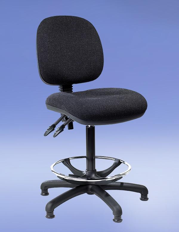 16 draftsman chair polished steel and ebonized wood toledo