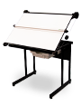 A1 Lift up drawing tables with counter weight or crosswire parallel motion