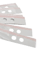 Self adhesive plan strips in A0 or A1 with 2 or 4 holes for prong systems