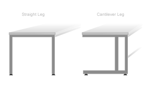 Cantilever or Straight Leg Table Styles