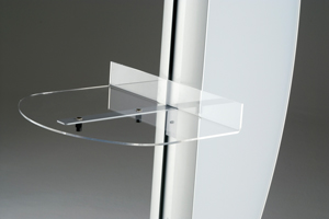 Semi-Circular Acrylic Shelf