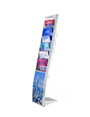Vision angled free standing brochure stand